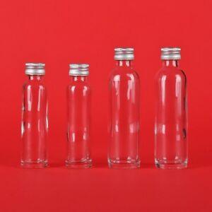 20/40/50ml kleine Glas-Flaschen-Bordo Schraubverschluss Schnaps mini Fläschchen