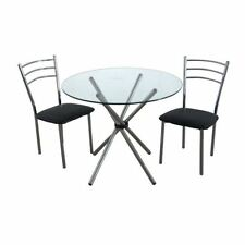 Glass Dining Room 3 Piece Table & Chair Sets