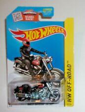 Hot Wheels Harley-Davidson Fat Boy #082 HW '15 Off-Road- Moto Black VHTF!