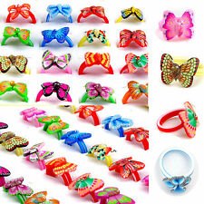 100/50Pcs Butterfly Fimo Rings Cocktail Polymer Clay Wholesale Children Kids Lot