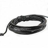 Black Men Punk Rope Fashion Surfers Brown Lover Women Style Bracelet Leather