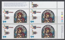 CANADA #1671 90¢ Christmas Madonna and Child UR Plate Block MNH