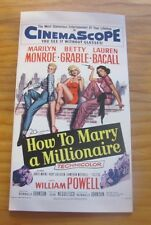 HOW TO MARRY A MILLIONAIRE POSTER DESIGN BLANK GREETINGS CARD MONROE GRABLE