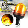 Rotating Flashing Amber Beacon Flexible DIN Pole Mount Tractor Warning LED Light