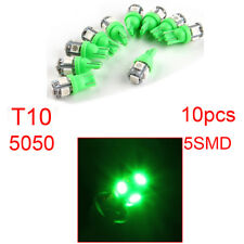 10x 5 LED SMD T10 Car Green Light Bulb for Interior Stop Parker Wedge Side Globe
