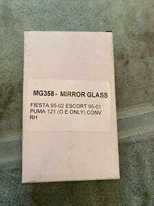 MG358 Mirror Glass Fiesta 95-02 Escort 95-01 Puma 121 (o.e. Only) Conv RH