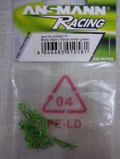 Ansmann Racing Small Green Body Clips (Qty 10) 203000177
