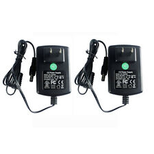 2Pack AC DC 12V 2A Power Adapter Supply 5.5*2.1mm F. DVR NVR Led Strip UL Listed