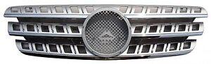 Mercedes Benz W163 96-05 Front Grille Chrome Strip & Moulding & Silver w/Emblem