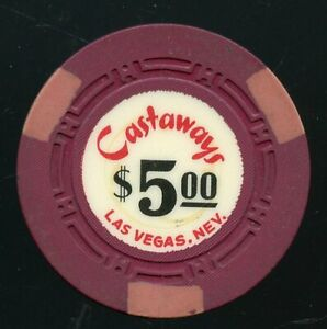 $5 Castaways 1st issue 1963 Old Obsolete Las Vegas Casino Chip