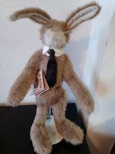 "Vtg. Boyds ~ Head Bean ~ Artisan Series ""Harvey B. Woodsley"" Bunny Rabbit Bear"