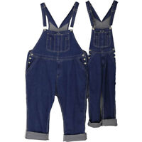 Men Demin Overalls Casual Suspenders Pants Loose Dungarees Jumpsuits Jeans 28-50