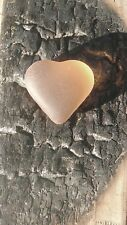 Tumbled Like Sea Glass Light Orange Heart , Craft, Jewelry, Mosaic Tile
