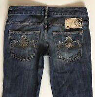 Ladies Diesel Ryoth Bootcut Stretch Pretty Blue Jeans W27 L30 Uk Size 8  (hj256)