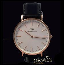 Daniel Wellington Herren Uhr Classic Sheffield  0107DW Leder, schwarz, Neu, OVP