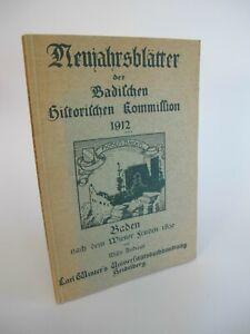 1912 Neujahrsblätter der Badischen Historischen Kommission Baden K3695