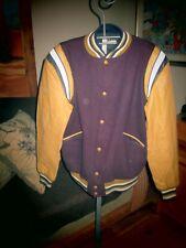Butwin Champion Varsity Jackets NEW Golden Leather Purple Wool Men Medium