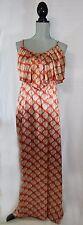 Fabrik Maxi Dress Coral Beige Spaghetti Straps Full Length Womens Small New