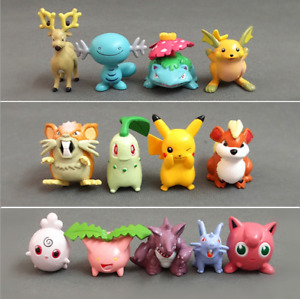 13PCS Premium Pokemon Pikachu Jigglypuff Kids Figures Toy Collection Cake Topper