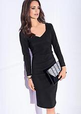 Kaleidoscope Mini Rib Jersey Sweetheart Neck Dress Size 8 BNWT RRP £72.99 Black