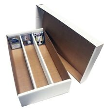 (7) 3000 COUNT 3 ROW BASEBALL TRADING CARD MAX PRO CARDBOARD STORAGE BOXES zx