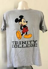 Vtg 80s Mickey Mouse Trinity College T-Shirt Heather Gray Champion Brand Disney