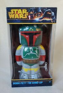 Star Wars Boba Fett Tin Wind-up toy by Schylling  with box  pre owned