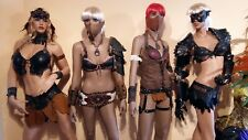 """Real Leather Fantasy Worrier Woman """"type2"""" NEW Carnival Costume Drag Rio Outfit"""