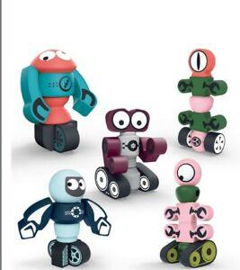 DigHealth Magnetic Robots Toy, 35 PCS Magnetic Building Blocks Set & Storage :K1