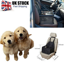 Car Pet Dog Booster Seat Breathable Bag w/ Seat Belt Safety Stable for Travel UK