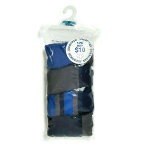 Joe Boxer Boys 5 Pack Briefs 100% Cotton Size XL 14/16 Extra Large Blue Grey NIP