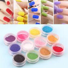 12Pcs Nail Flocking Velvet Powder Dust Cashmere Nail Art Tips Manicure DIY Color