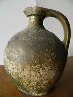 cruche terre cuite émaillée, Moyen Âge