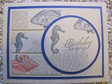 Masculine Under the Sea Happy Birthday/Friendship Card Kit 4 w/Some Stampin Up