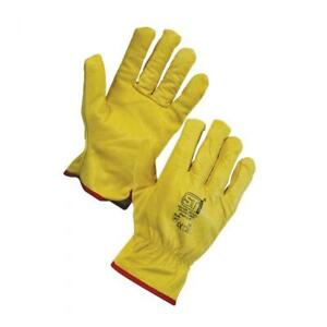 Supertouch Leather Driving Gloves (pair) P20642 Lined Yellow Size 3XL