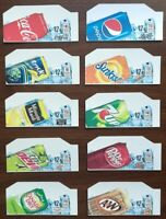 "(10) SODA VENDING MACHINE 12oz ""CAN""  Vend Labels (Flavor Strip) -VARIETY PACK"