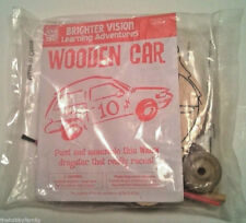 NEW BRIGHTER VISION WOODEN RACE CAR DRAGSTER KID WOOD KIT CRAFTS NIP