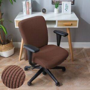 Office Chair Cover Stretchy Solid Armchair Computer Seat Slipcover Protector