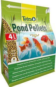 Tetra Pond Fish Pellets Medium 4L / 1030g - Complete Food For Goldfish Koi Orfe
