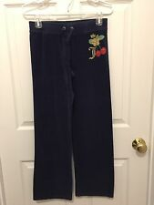 Juicy Couture Girls Terry Pants, Navy, Size 14