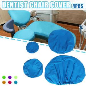 4Pcs Washable Dental Unit Chair Cover Seat Cushion Protector  Elastic Cotton