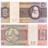Brazil 10 Cruzeiros ND (1980) P-193e Banknotes UNC