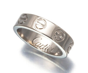 Auth Cartier Pendant Love Charm 18K 750 White Gold