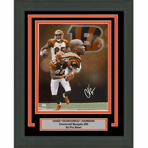 FRAMED Autographed/Signed CHAD JOHNSON OCHOCINCO Bengals 16x20 Photo JSA COA #2