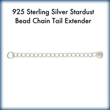 "2 Sterling Silver .925 Chain Tail Extender with Stardust Bead End - 2.0"" Length"