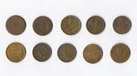 10 Different Civil War Patriotic Tokens 1863 & 1864 Coin Lot