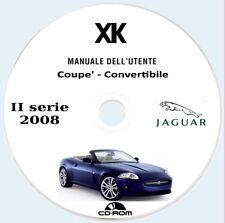 Jaguar XK (2008) ,2a serie,manuale uso manutenzione,coupe',convertibile.