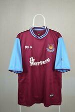 WEST HAM United Hammers Home Shirt Jersey FILA 1999/2001 Dr Martens WHU Size L