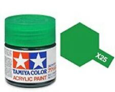 TAMIYA COLORI ACRILICI PER PLASTICA X25 CLEAR GREEN FOR PLASTIC