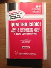 Quattro Codici. Civile/Procedura Civile/Penale/Procedura Penale - La Tribuna